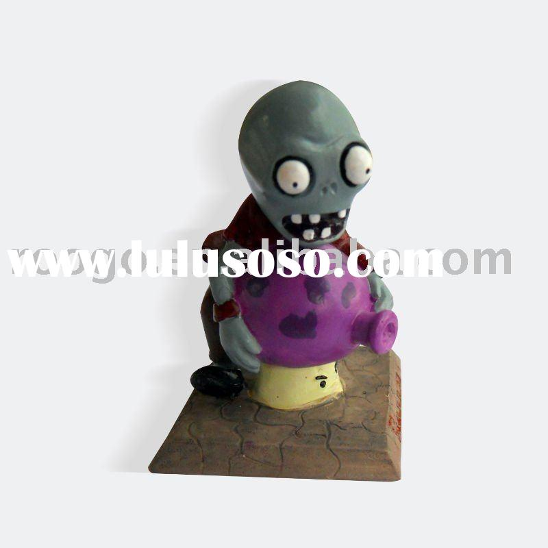 Plants vs zombies polyresin bungee zombie figurine home decoration