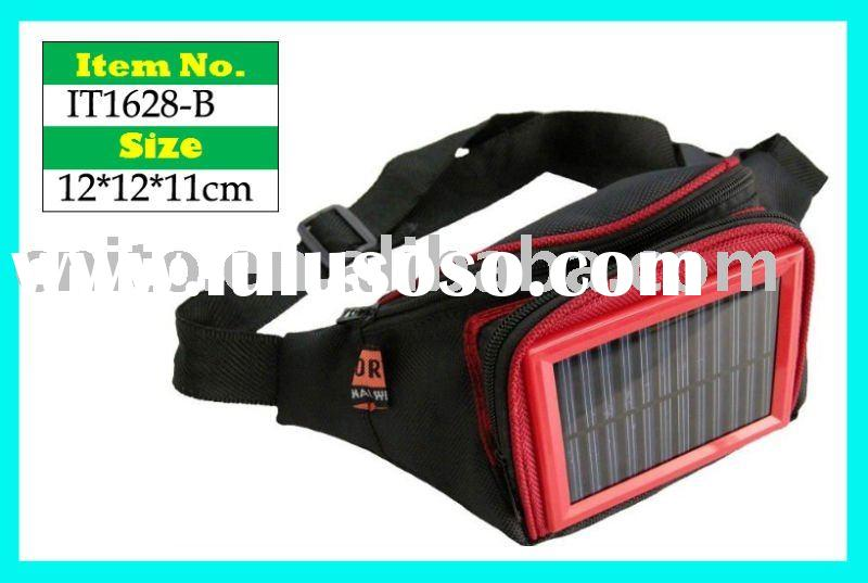 Solar Energy Products Waist Pack Bag for charging mobile phone