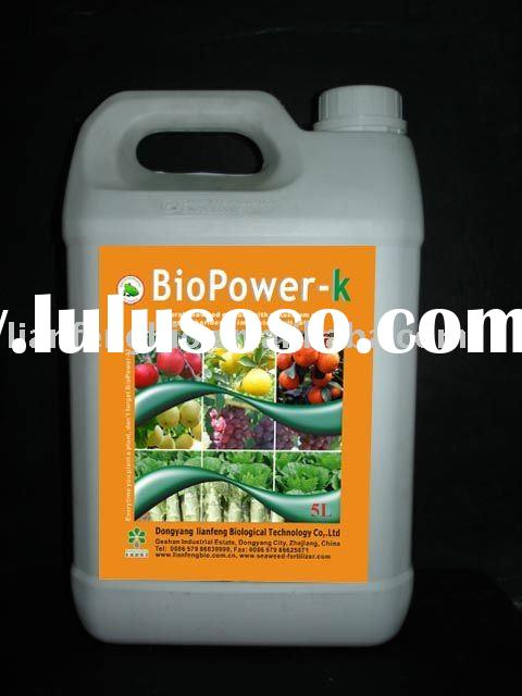 Liquid organic Foliar spray fertilizer with micronutrients and fermented seaweed extract