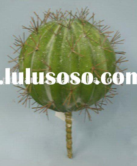 artificial plants,decorative cactus ball with thorn pick