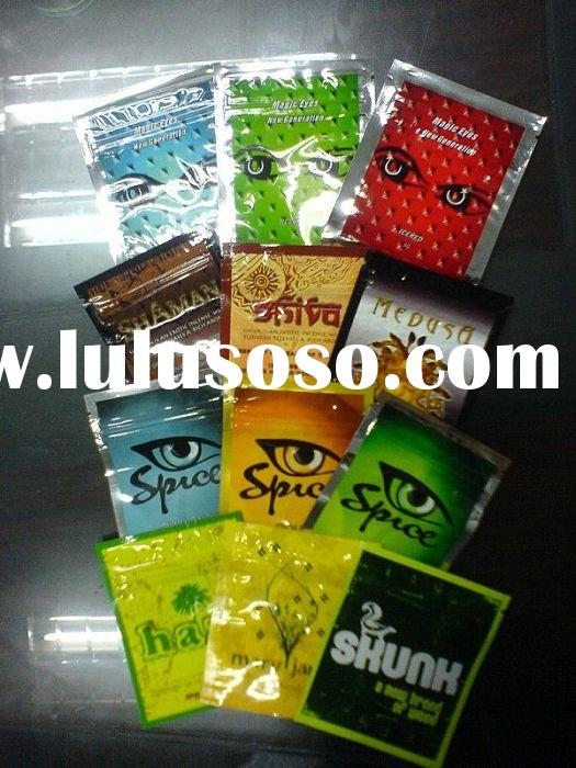 zipper herbal incense bag 1g & 3g