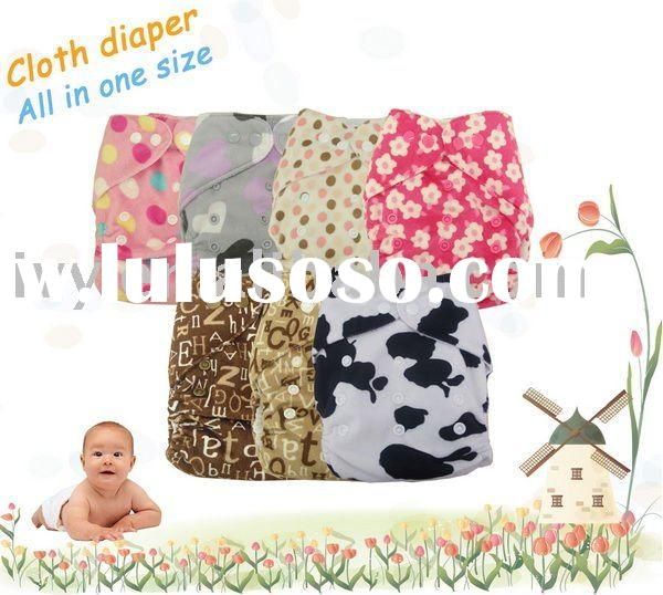 100pcs Minkee Baby cloth diaper/one nappy+two insert
