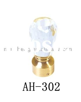AH-302 fancy crystal curtain rod end,curtain head,curtain accessory,curtain decoration