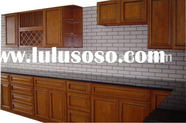 All wood kitchen cabinet