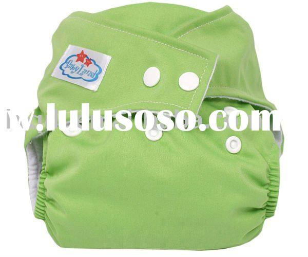 Baby cloth reustable fitted nappy diapers napkin jercy binded with PU