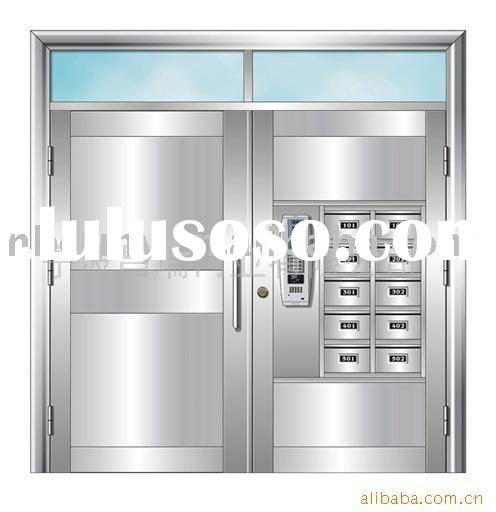 Double open stainless steel door