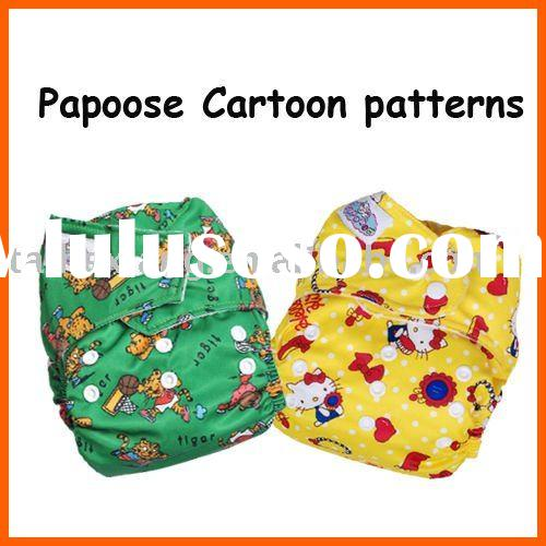 Papoose Cartoon Pattern Baby Cloth Diaper