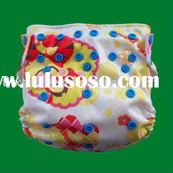 Printed baby cloth diapers/ cloth nappy