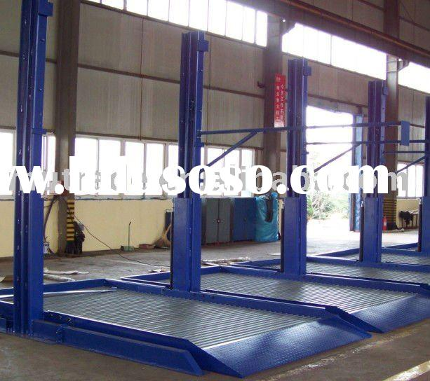 Two Post hydraulic auto Parking lift  (sharing post) with CE--home garage parking equipment
