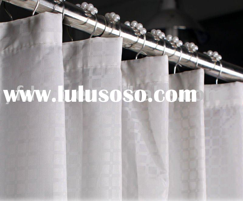 Unique pattern luxury bathroom polyester shower curtain