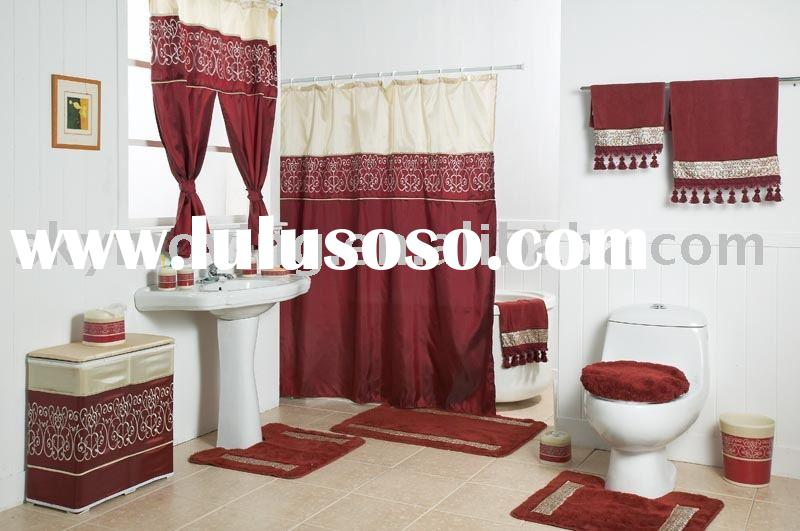 Bathroom Shower Curtains Sets - Red Room Interiors Accrington