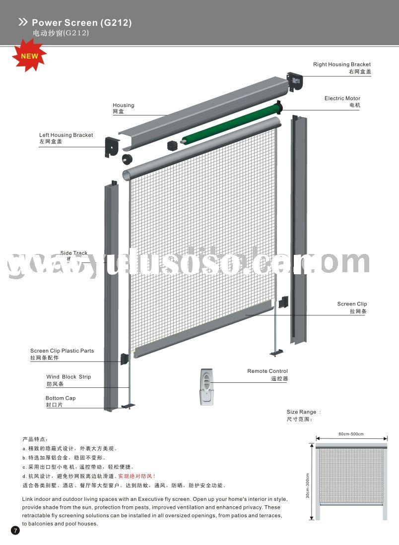 Motorized door gate and fence motorized gate automatic for Automatic retractable screens