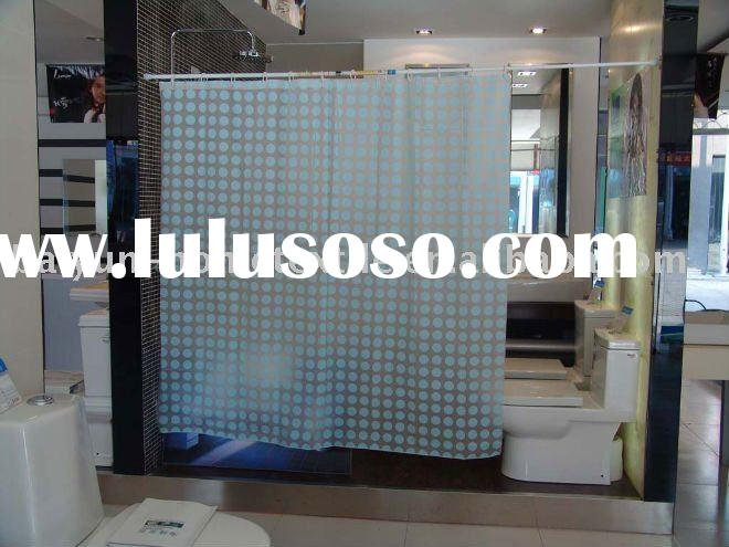 round dot pvc shower curtain/bathroom accessory