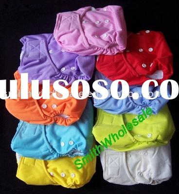 velcro closure cloth Diaper  with Insert