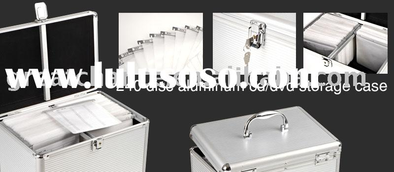 240 Disc Aluminum DJ Fight Case CD / DVD Storage Box
