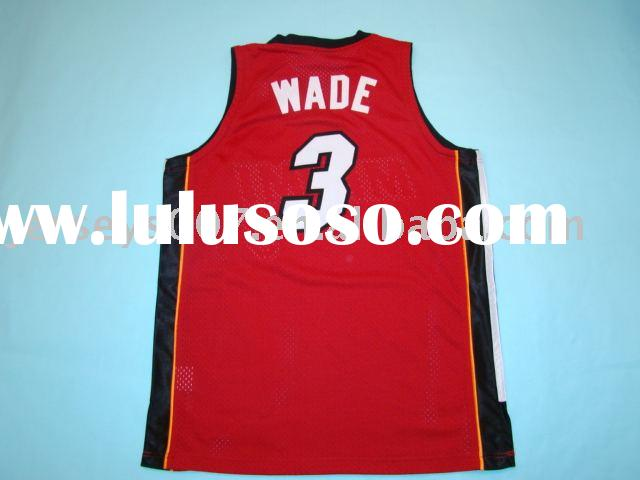Authentic Miami Heat #3 Dwyane wade red basketball jerseys.accept paypal