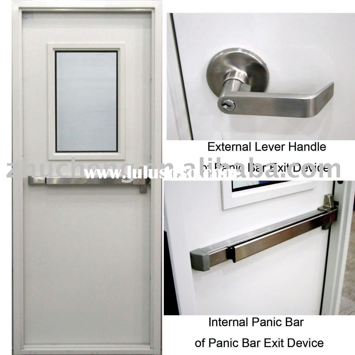 Fire Rated Door With Panic Bar Exit Device