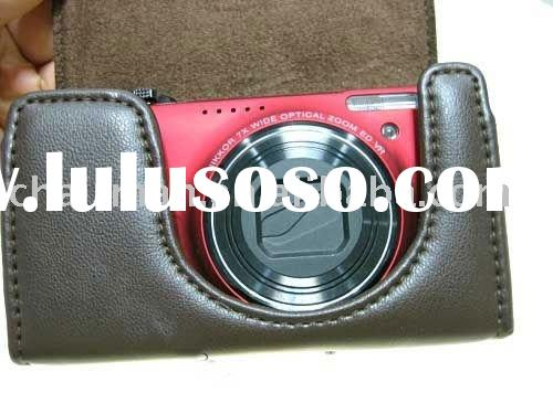 Leather camera case bag for Nikon s6000 s8000 s8100