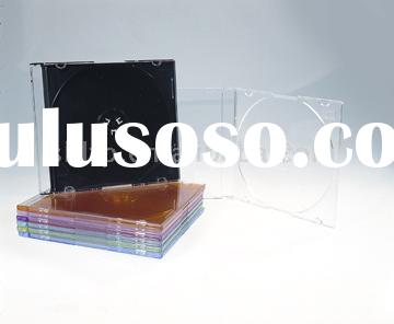Slim CD Case, with black/clear tray,142 x 124 x 5mm