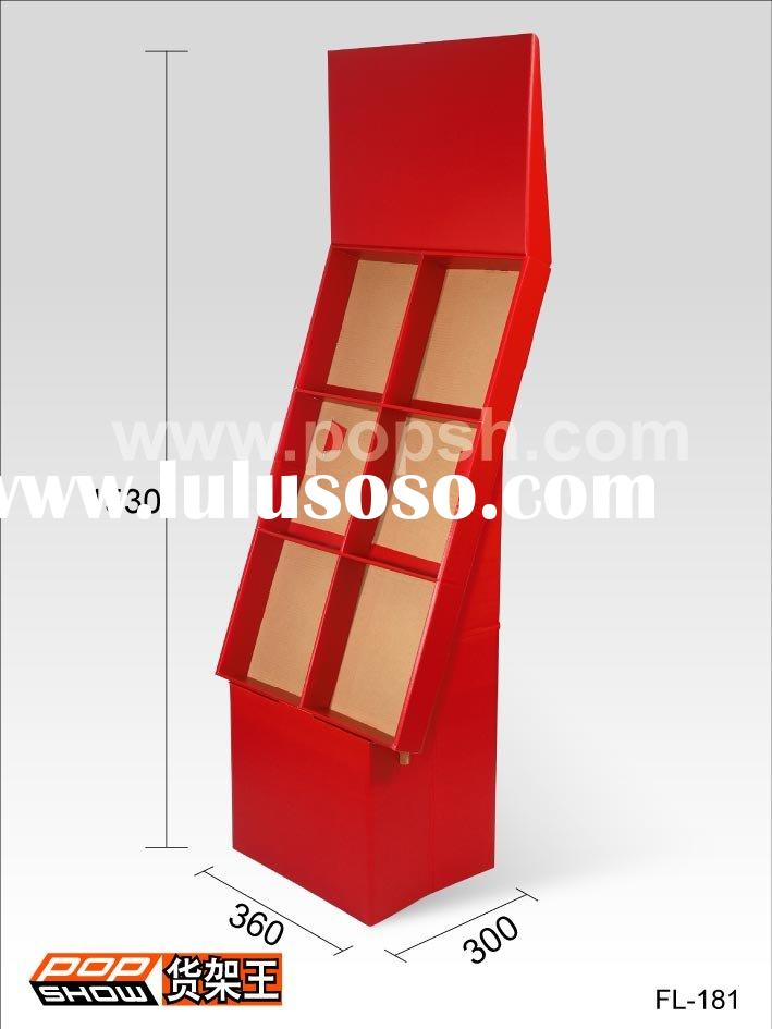 cd cardboard display stand in retail store/super market