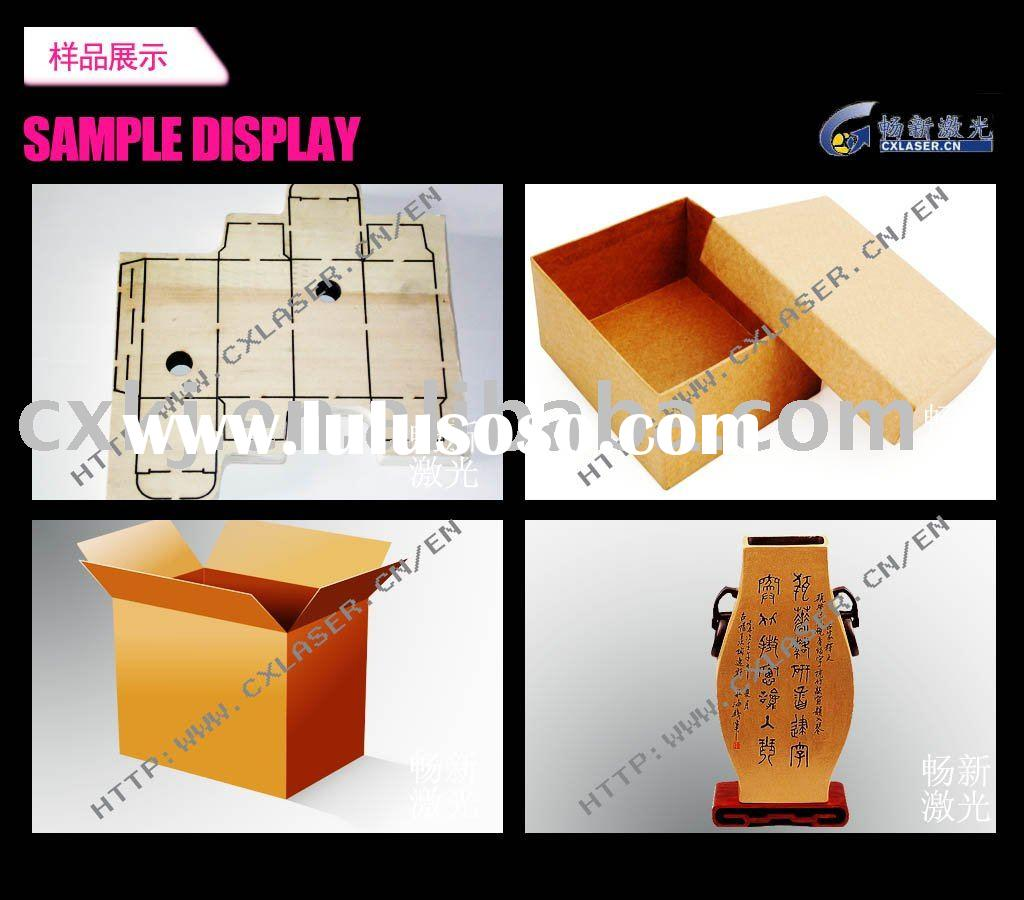 laser paper box template making machine