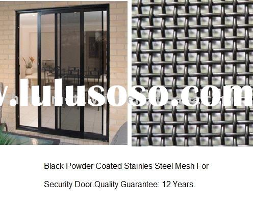 stainless steel security  door screen black powder coated