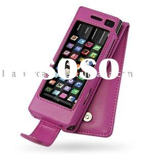 Leather Case for LG BL40 New Chocolate - Flip Type (Pink)