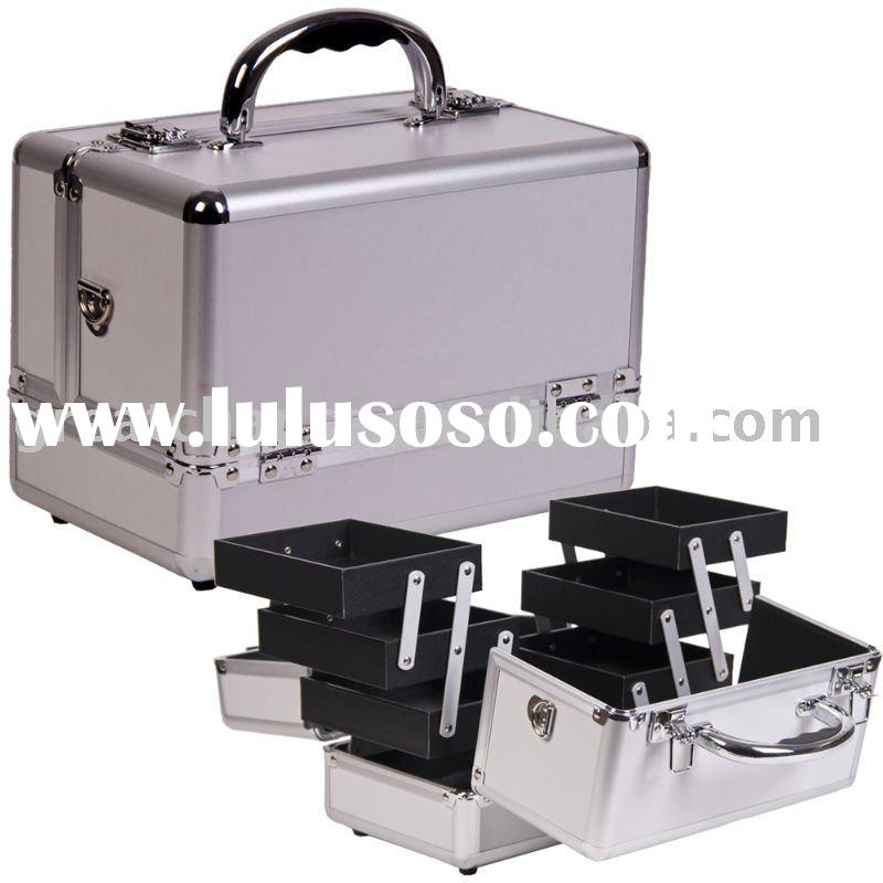 Pro Makeup Cosmetic Train Case Aluminum Box Bag