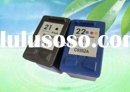 Recycled ink cartridge HP 21 C9351A and HP 22 C9352A printing inkjet cartridge