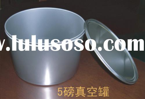 silver cans for filling  printing inks..