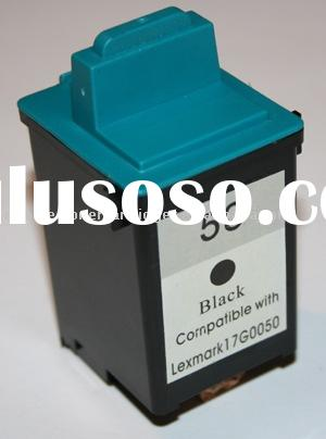 Remanufactured ink cartridge for Lexmark 50  inkjet cartridge for 17G0050