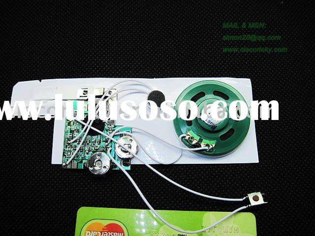 messager and voice recordable module chip for greeting card