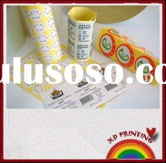 Self-adhesive label printing