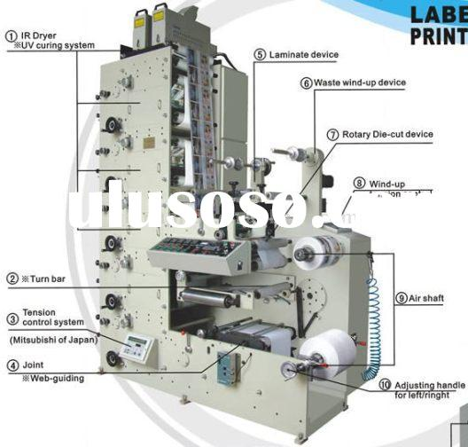 Self-adhesive label printing machine