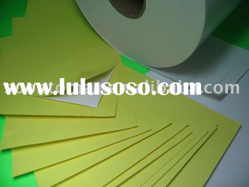 Wood-free Adhesive paper for Label printing