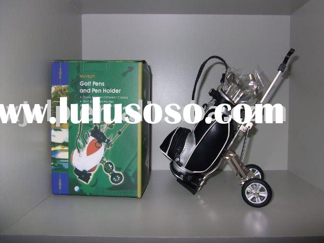 creative gift golf trolley pen holder