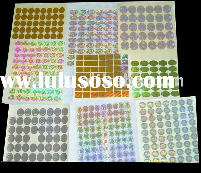 custom hologram self-adhesive anti-counterfeit label