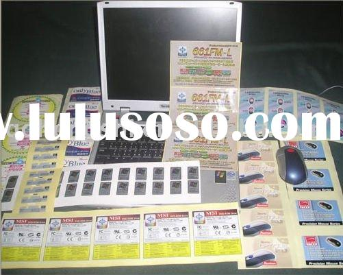 self adhesive label printing,electronic appliance labels