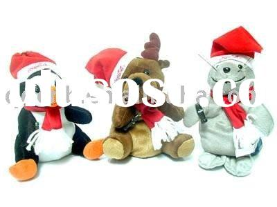 Mini Plush Christmas Bear Penguin Reindeer Animals Mini Plush Christmas Toy