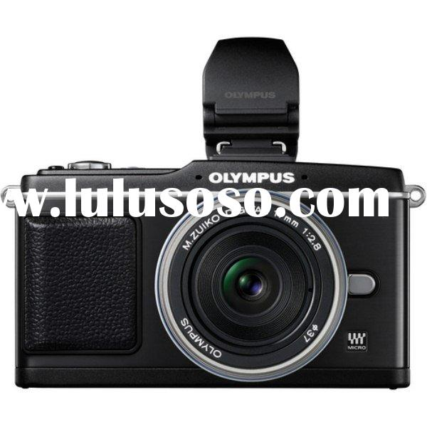 Olympus PEN E-P2 (Black) Kit with ED 17mm F2 Digital Camera