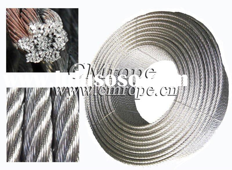 Galvanized steel wire rope/Ungalvanized steel wire rope 7x19