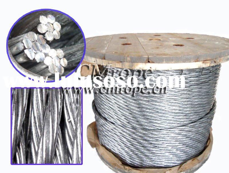 Galvanized steel wire rope/ steel wire strand 3x7