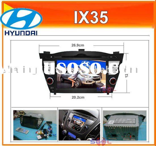 Touch Screen HD Car DVD Player GPS steering wheel control for Hyundai IX35