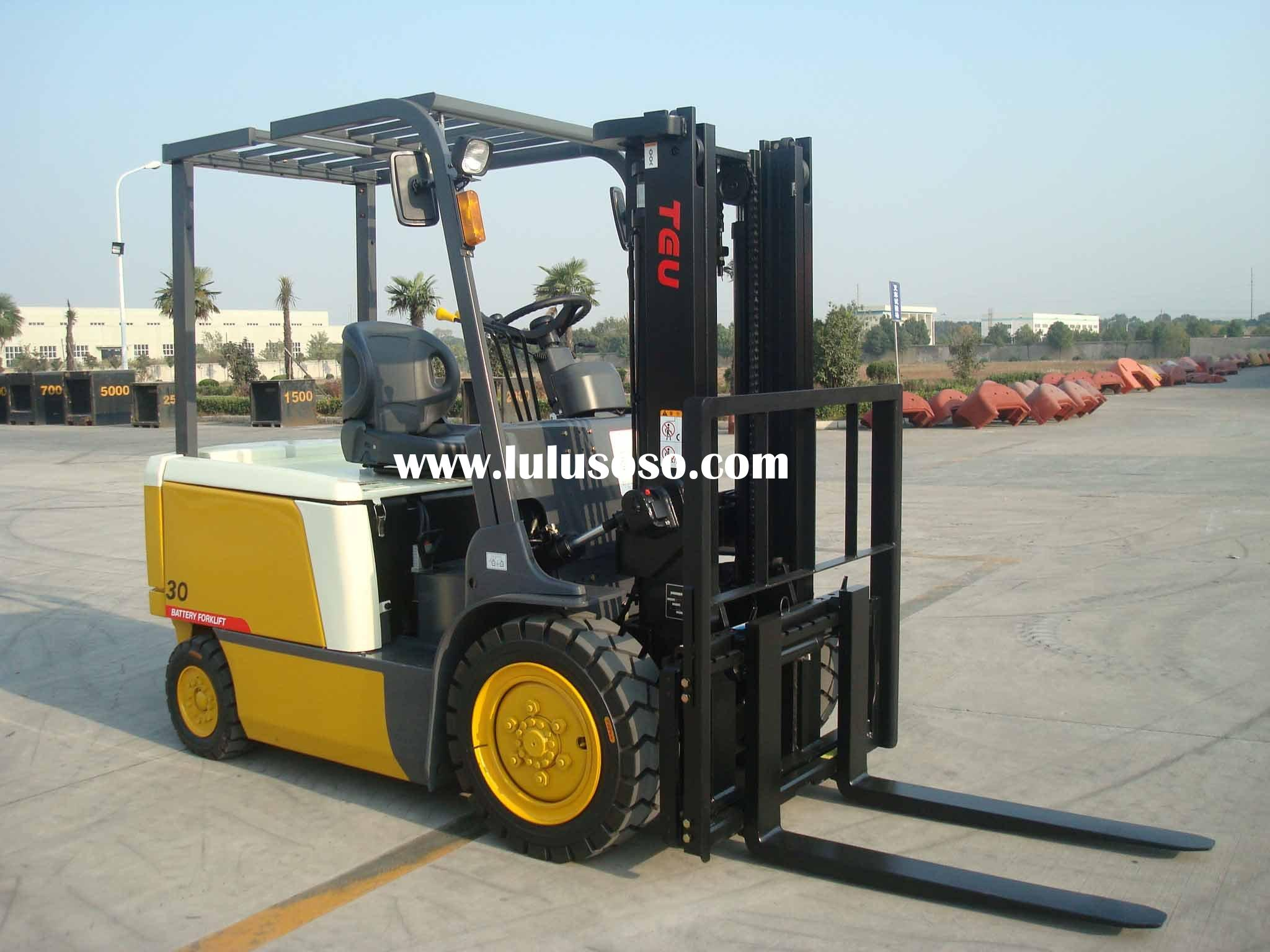 3t electric  forklift with 72v battery DC motor