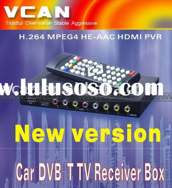 Car TV tuner with free DVB antenna