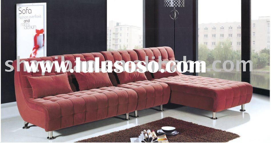 Classical Red Microfiber Fabric Living Room Set