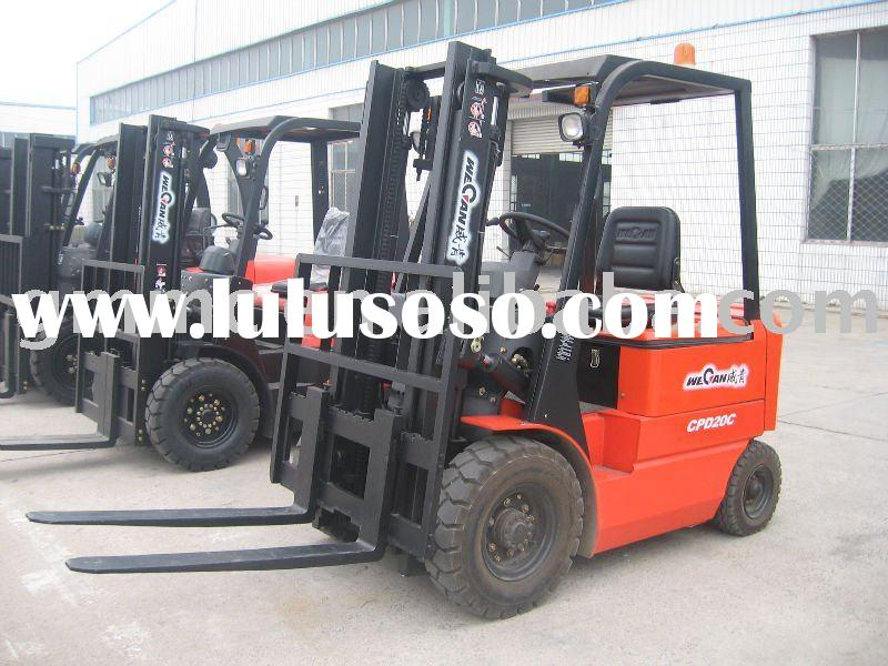 Electric Forklift With Battery Charger