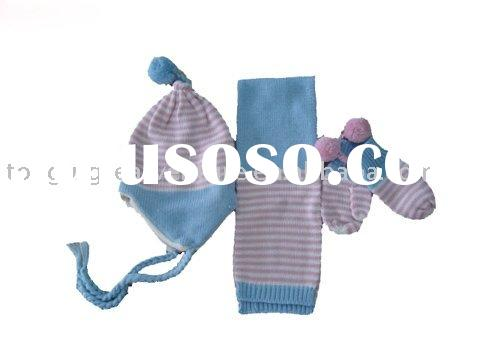 Fashion Scarf Hat and Glove Sets for Children