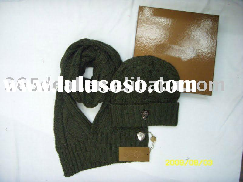 HOT SELLING winter hat and scarf set