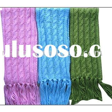 QIAOEN women's Accessories cable-knit scarf